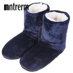 Mntrerm novo inverno chinelos de pelúcia homens casa chinelos botas moda quente sapatos masculinos outono chinelos casa grande tamanho venda quente