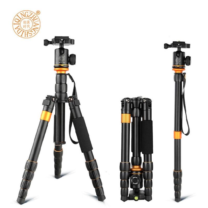 QZSD Q278 Monopod kompakt me peshë të lehtë dhe të butë për Kamer Nikon DSLR / Qëndrim kamer portabël