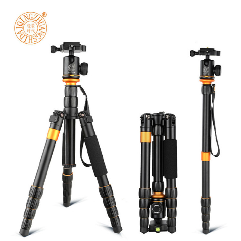 QZSD Q278 Лек компактен монопод и професионална топка глава за DSLR Canon Nikon DSLR камера / преносима стойка за камера