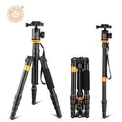 QZSD Q278 trépied Compact léger monopode et tête à bille professionnelle pour Canon Nikon DSLR appareil photo/support d'appareil photo Portable