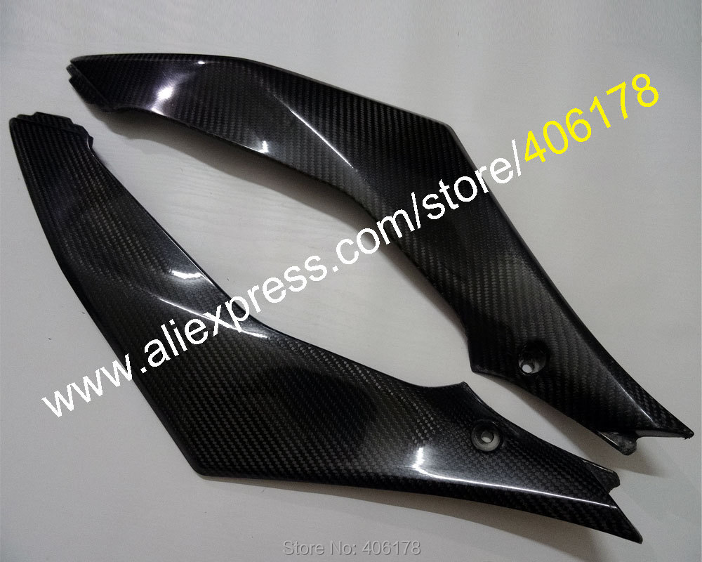 Hot Sales,2 x Carbon Fiber Tank Side Covers Panels Fairing For Suzuki GSXR1000 2007 2008 K7 GSX-R 1000 Tank Side Cover Panel
