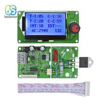 40A 100A LCD Digital Double Pulse Encoder Spot Welder Control Module Welding Machine Transformer Controller Board within the control of nemicon economic encoder pulse performance stability ovw2 20 2mht 2000