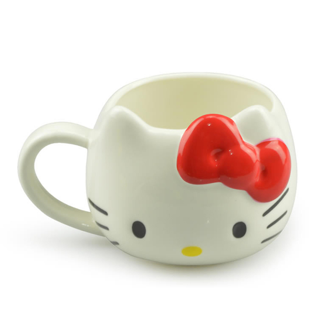 Hot Funny Cat Tea Cups and Coffee Mugs For Home and Office, Hello Kitty Mugs As Christmas Gift For Daughter Girl Friend 1