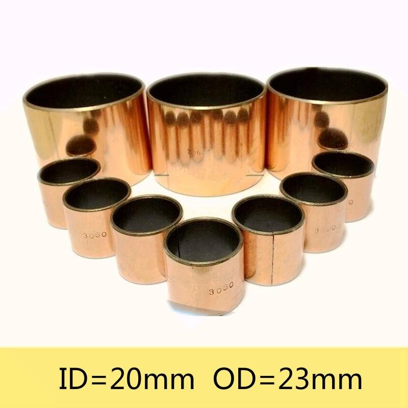 New 10pcs SF-1 2030 Self Lubricating Composite Bearing Bushing Sleeve 23*20*30mm