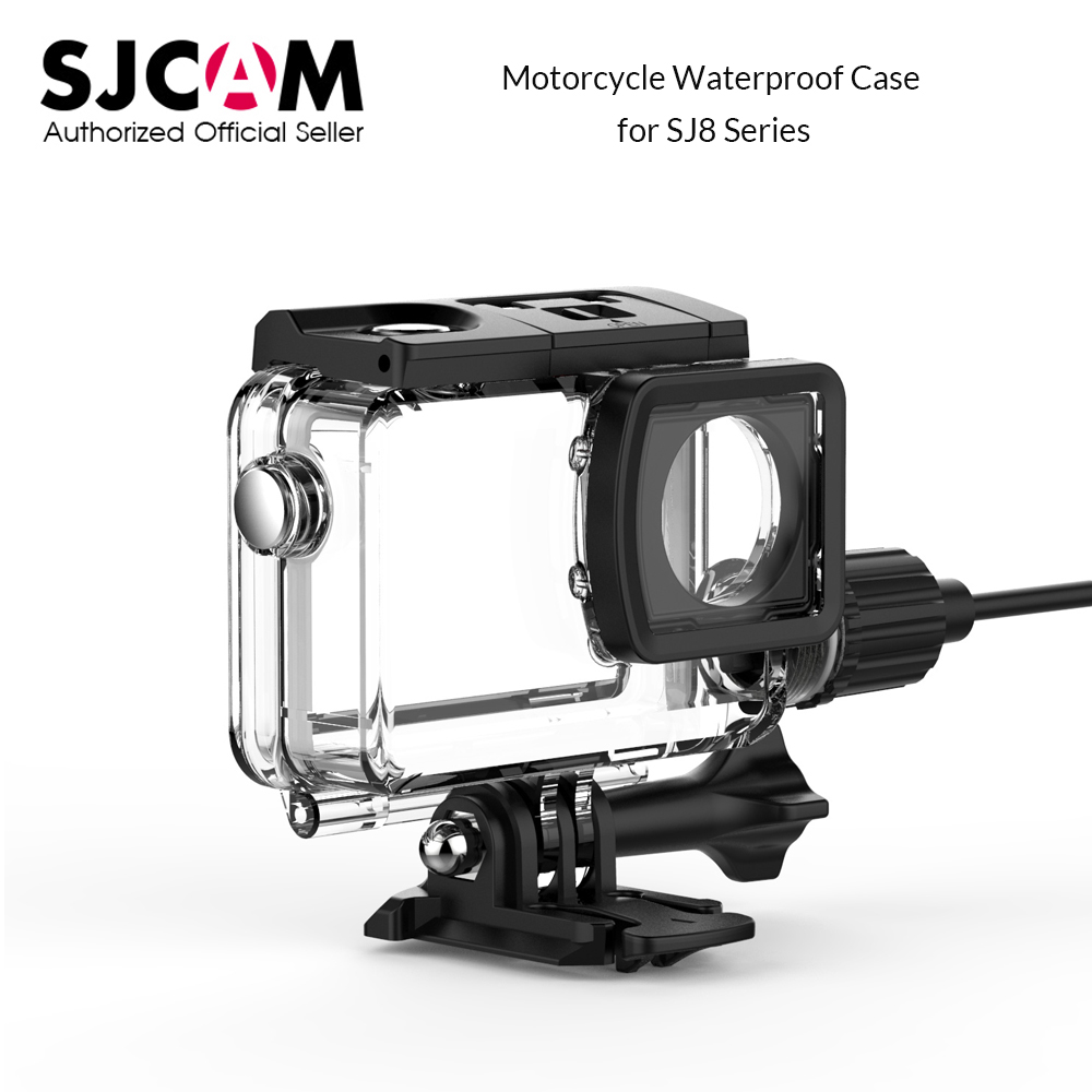 Original SJCAM SJ8 Series Motorcycle Waterproof Case with Type C Cable for SJ8 Pro SJ8 Plus