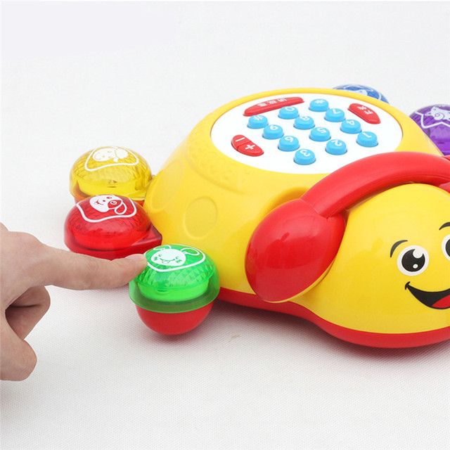 New Arrival Large Toys Baby Children Gift Seven Star Beetles Phone Puzzle Toy Music Call Color Random