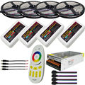 20m RGB LED Strip Light 5050 SMD IP20/IP65 Waterproof +Mi Light 2.4G RF Wireless Touch Remote +4pcs 4-Zone Controller kit