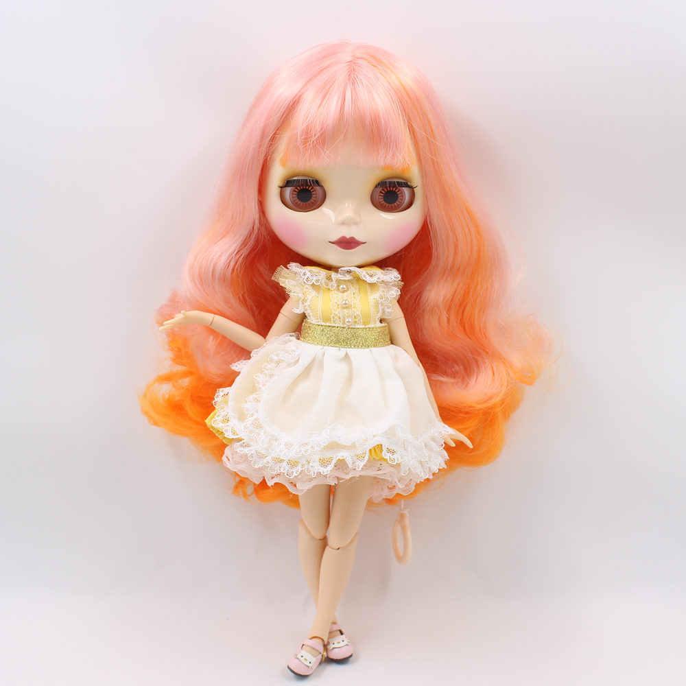 Наряды для кукол Blyth, желтое платье принцессы, Кружевной Фартук, костюм для 1/6 azone BJD pullip licca