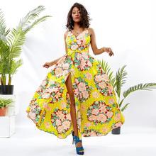 Shenbolen African Dresses For Women Ankara Wax Cotton Print Sexy Traditional Clothes Wedding dress