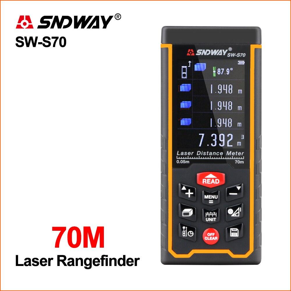 SNDWAY лазерный дальномер охотничий цифровой мини портативный дальномер USB зарядка цветной экран лазерный дальномер