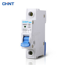 CHNT Miniature Circuit Breaker Household Type C Air Switch Moulded Case Circuit Breaker 1P 10A chnt miniature circuit breaker household type c air switch moulded case circuit breaker 1p 16a