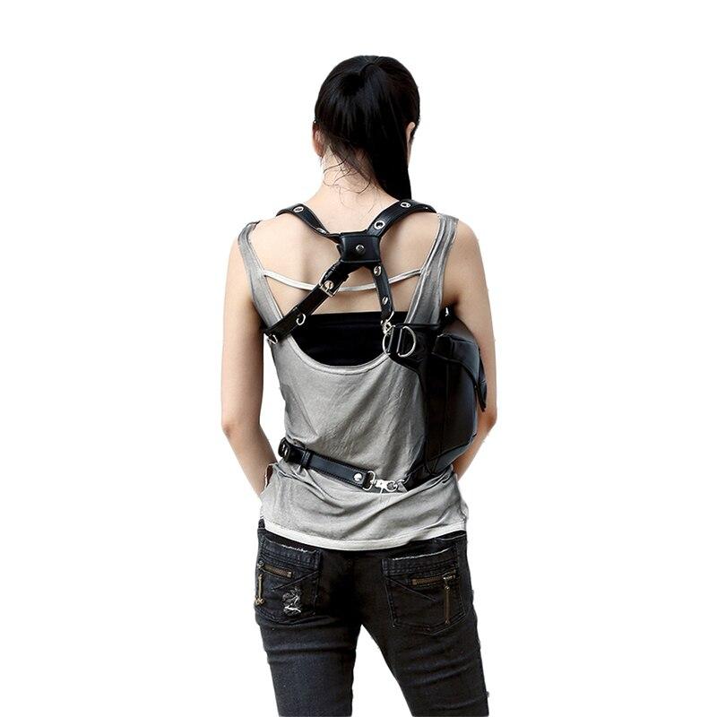 Steel Master Fashion Gothic Steampunk Retro Rock Nahast õlakott - Käekotid - Foto 6