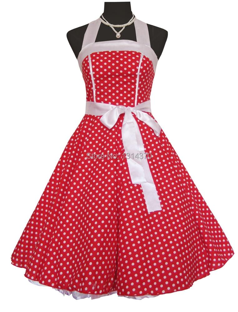 Moterys vasaros 50-ųjų 60-ųjų sūpynės Vintage retro stiliaus - Moteriški drabužiai - Nuotrauka 3