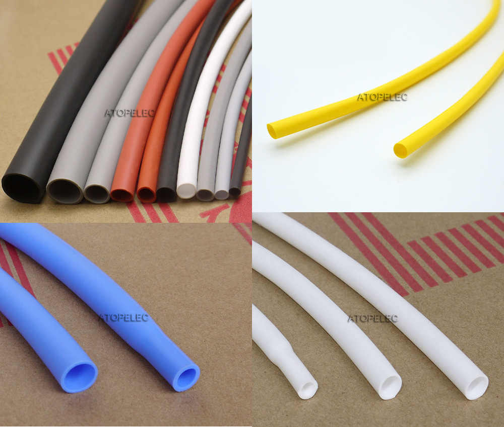2-12mm Silicone Rubber Blue Heat Shrink Tubing Flexible Heatshrink Tube 2500V