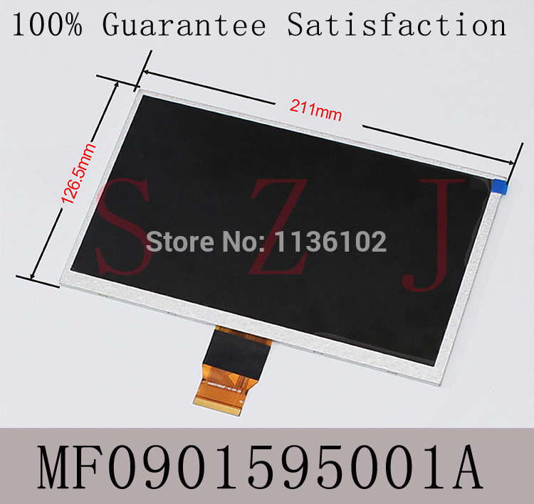 (Ref:MF0901595001A) 9 inch LCD screen display for Soulycin 9 s10 x10 Newsmy n32 Venus Jxds9100 lcd screen Free shipping