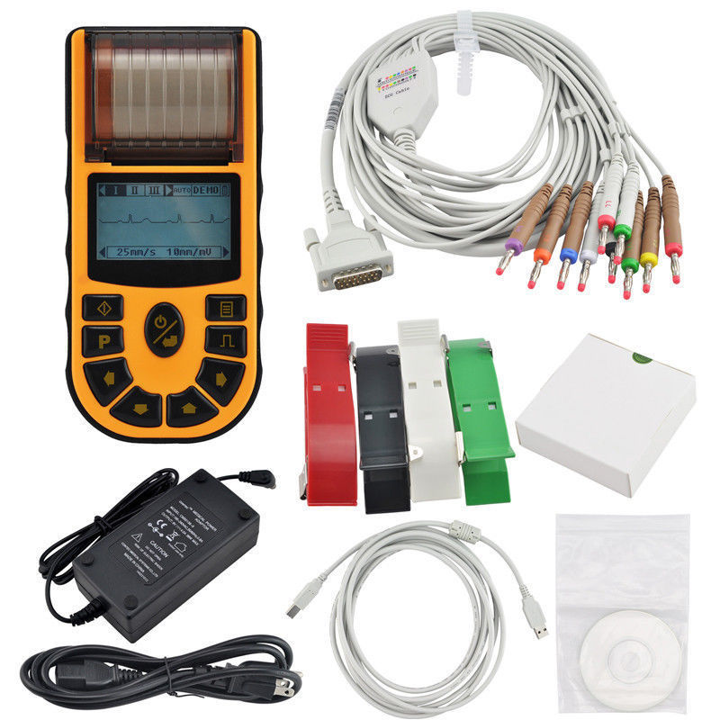 CONTEC CE, électrocardiographe numérique portable à canal unique ECG + logiciel gratuit, ECG80A FDA