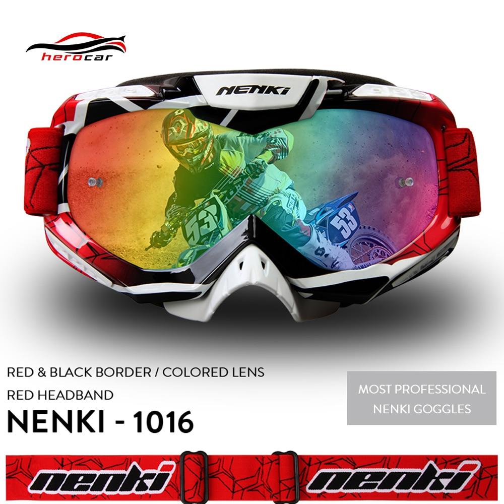 NENKI Motocross Glasses Fox Racing Moto Men Women Motocross Goggles Helmet Off-Road Motorcycle Glasses Dirt Bike BMX MTB Eyewear