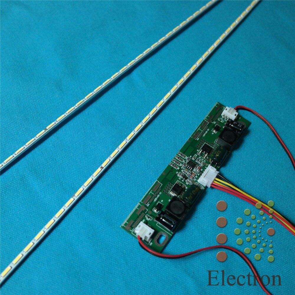 475mm LED Backlight Lamps Strip Update Kit Aluminum Plate 54leds W/ 26''-65'' Inverter For 42'' LCD Monitor TV Panel High Light