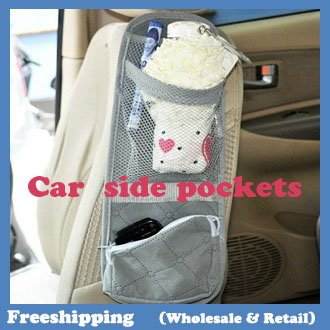 Bamboo charcoal car chair side pockets stowage bags multi-function bag 37*11cm Free ship ...