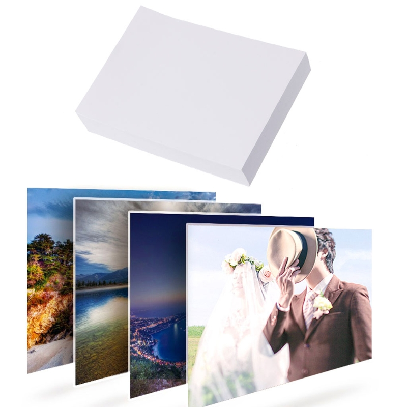 """100 Sheet Glossy 5"""" 3R Photo Paper For Inkjet Printers Photographic Graphics Output JUL-26B"""
