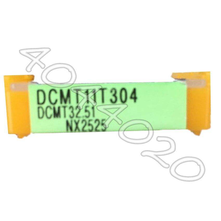 MITSUBISHI CNC TURNING TOOL DCMT11T304 NX2525 DCMT32.5 CARBIDE INSERTS 10PCS//BOX