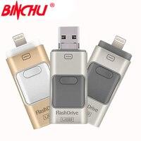 BINCHU אני-כונן פלאש 8 gb 32 gb 64 gb 128 GB כונן עט מיני Usb/Otg Usb כונן פלאש לאייפון 5/5S/5c/6/6 פלוס/ipad Pendrive