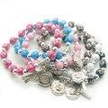 Católica rosario pulsera, pulseras de moda, rose pulseras
