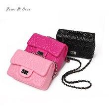 4b86f8590f Fleur chaînes sac femmes petit mini partie rabat sac de luxe marque de mode  lady matelassé messenger sac à main 2018 rose rose n.