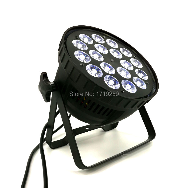 6 pcs/lot LED Par 18x12W RGBW Light DMX Stage Lights Business Lights Professional Flat Par Can for Party KTV Disco DJ Ligthing