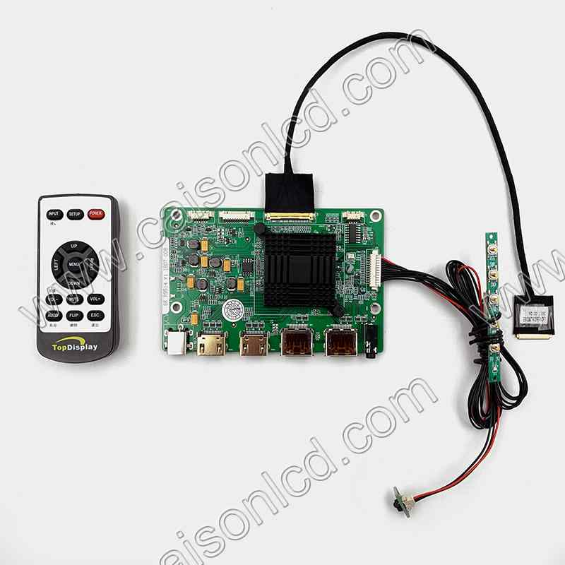 2HDMI 2DP Audio 4K LCD controller board support 4K 12 5 inch lcd panel LQ125D1JW33 lcd