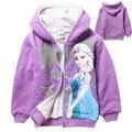 Meninas roupas criança jaqueta outerwear casacos Com Capuz roupas crianças Hoodies inverno crianças mangas Compridas T-shirt dos desenhos animados do bebê