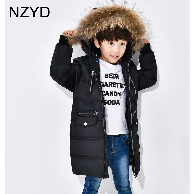 2017 New Fashion Winter Boys Girls Down Jacket Hooded Fur Collar Children Coats Boy Girl Clothes Thicken Child Outerwear DC604 new winter boy girls down jacket outerwear children brand down coats cotton good quality baby kids warm clothes for boys