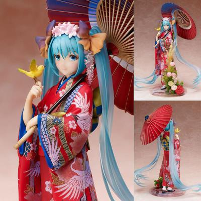 Japanese Anime Hatsune Miku Kimono Action Nendoroid Figure PVC Toys Doll Collection Gift With Box 23cmJapanese Anime Hatsune Miku Kimono Action Nendoroid Figure PVC Toys Doll Collection Gift With Box 23cm