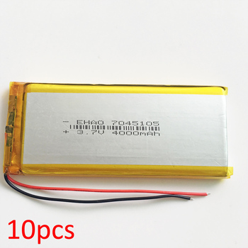 10 pcs 7045105 3.7V 4000mAh Lithium Polymer LiPo Rechargeable battery For Power bank GPS Tablet PC Laptop DVD PAD Camera speaker