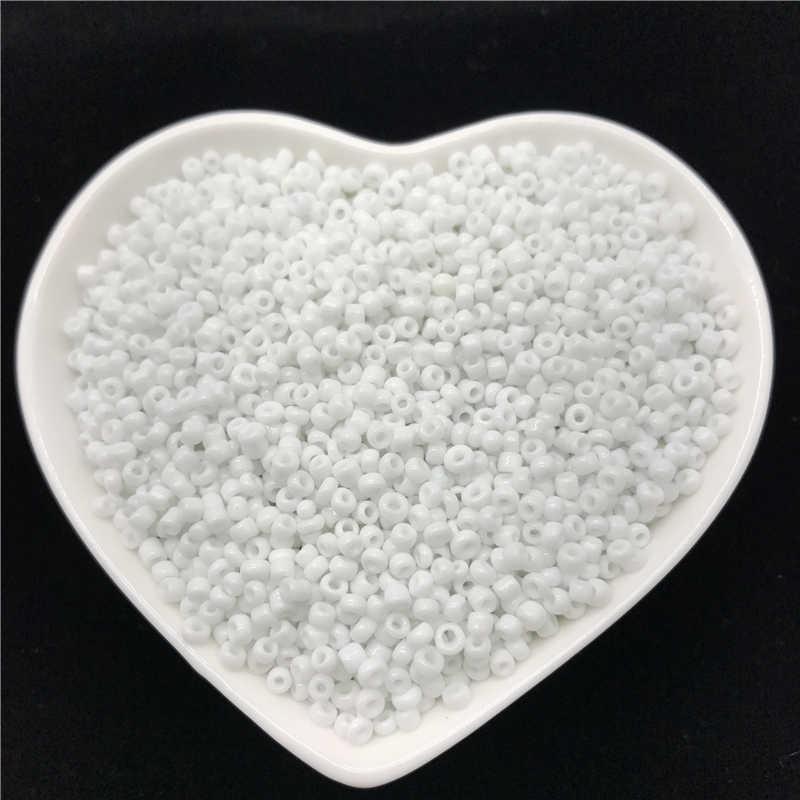 1000 piezas 2mm encanto de cuentas de semilla de vidrio checo DIY pulsera Collar para hacer joyería DIY pendiente collar punto de cruz accesorios