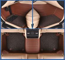цена на car floor mats foot pad rug for Peugeot 301 207 307 2008 308 408 508 3008 RCZ 208 4008 308S Caddy Combi VR6 multivan Golf GTI CC
