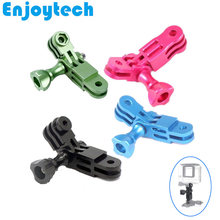Aluminum Alloy Adaptor Frames Mount for GoPro Hero SJcam Xiaoyi Action Cameras Accessories Stand Support Holder(China)