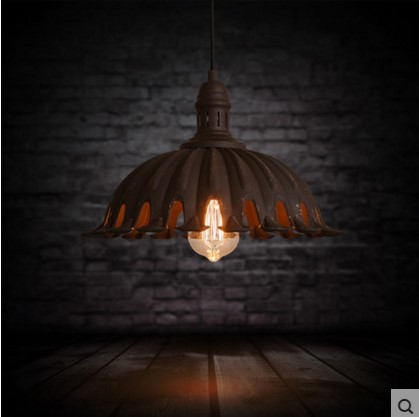 American Retro Style Loft Industrial Lamp Vintage Pendant Lights Fixtures Luminaire Wrount Iron 60W Edison Lighitng american retro pendant lights luminaire lamp iron industrial vintage led pendant lighting fixtures bar loft restaurant e27 black