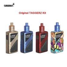 Original E-Cigarette Smoant TAGGERZ 200w TC vape kit dual 18650 battery 2ml Disposable tank 0.96 inch screen vaporizer vs Naboo 225w smoant naboo tc box mod with colorful 2 4 inch screen