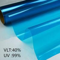 Blue Decorative Foils Window Tints Architectural Window Film 1 52x3m