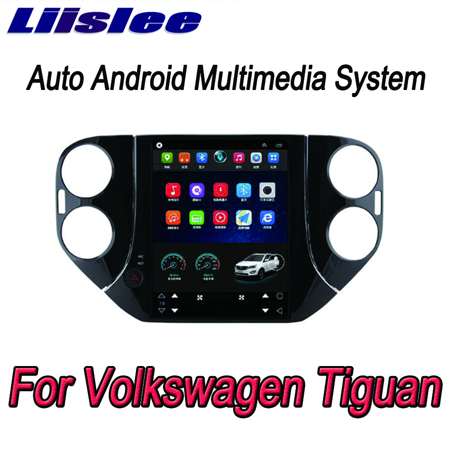 Liislee 2 din Android pour Volkswagen Tiguan grand écran voiture lecteur multimédia GPS Navigation vidéo Radio Bluetooth