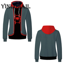 2019 Anime Hoodies Spiderman Unisex Pullover Harajuku Hoodie Spider-man Into The Spider Verse Cosplay