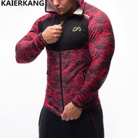 NEW Men Hoodies Brand Casual Hoodie Hombre Coat Bodybuilding And Fitness Hoodies Sweatshirts Zipper Muscle Men