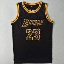 LABRON #23 James Basketball Jersey Stitched Black