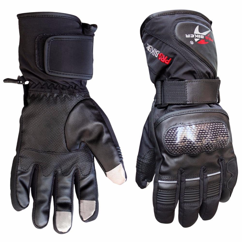 Pro-biker Motorcycle Gloves Winter full finger Warm Waterproof Windproof Protective motorbike Gears Carbon Fibre Guantes luvas недорго, оригинальная цена