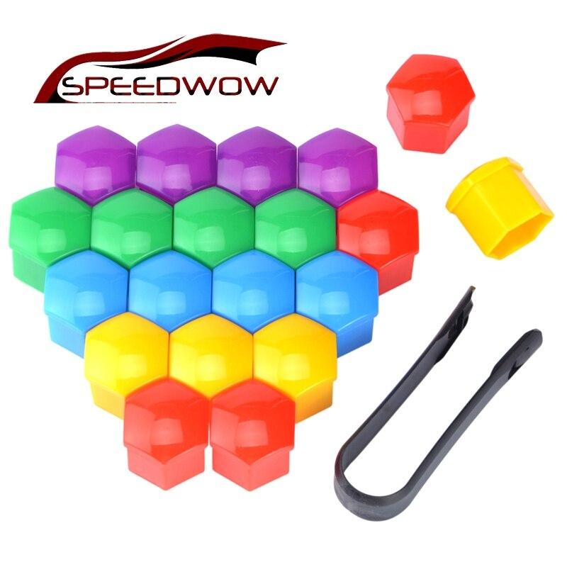Speedwow 20 штук 19 мм автомобильных шин ступицы колеса Чехлы для мангала колеса Гайки Ч ...