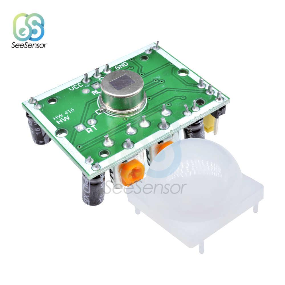 HC-SR501 HC-SR505 AM312 Отрегулируйте ИК пироэлектрический инфракрасный Мини PIR датчик человеческого движения модуль детектора для arduino