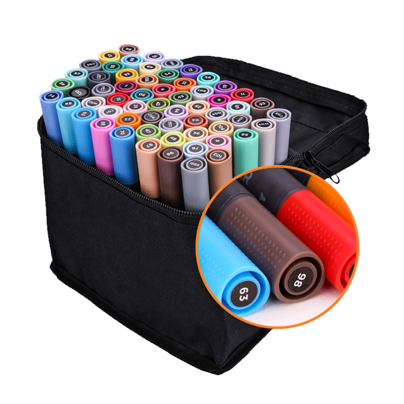 STA 30/40/60/80Color Dual Head Art Marker Set Alcohol Sketch Markers Pen for Artist Drawing Manga Design Art Supplier sta alcohol sketch markers 60 colors basic set dual head marker pen for drawing manga design art supplies
