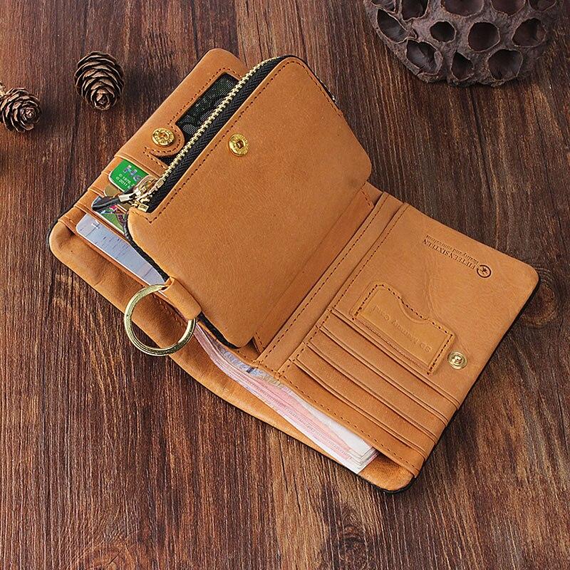 Männer Frauen Brieftasche Multi funktion Leder Und Original Bjyl Absatz Retro Kurzen karte Schnalle Multi Handgemachte 1 wqxOYqI1