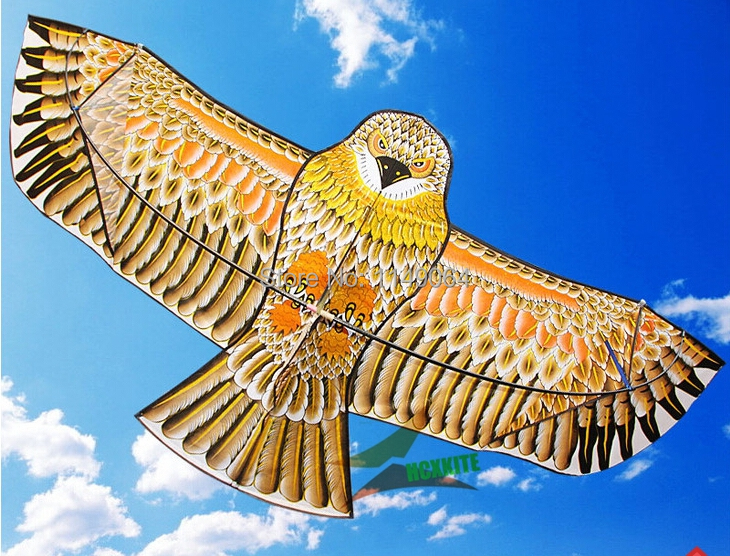 free shipping high quality 1.8m golden eagle kite with handle line kite games bird kite weifang chinese kite flying dragon hcx